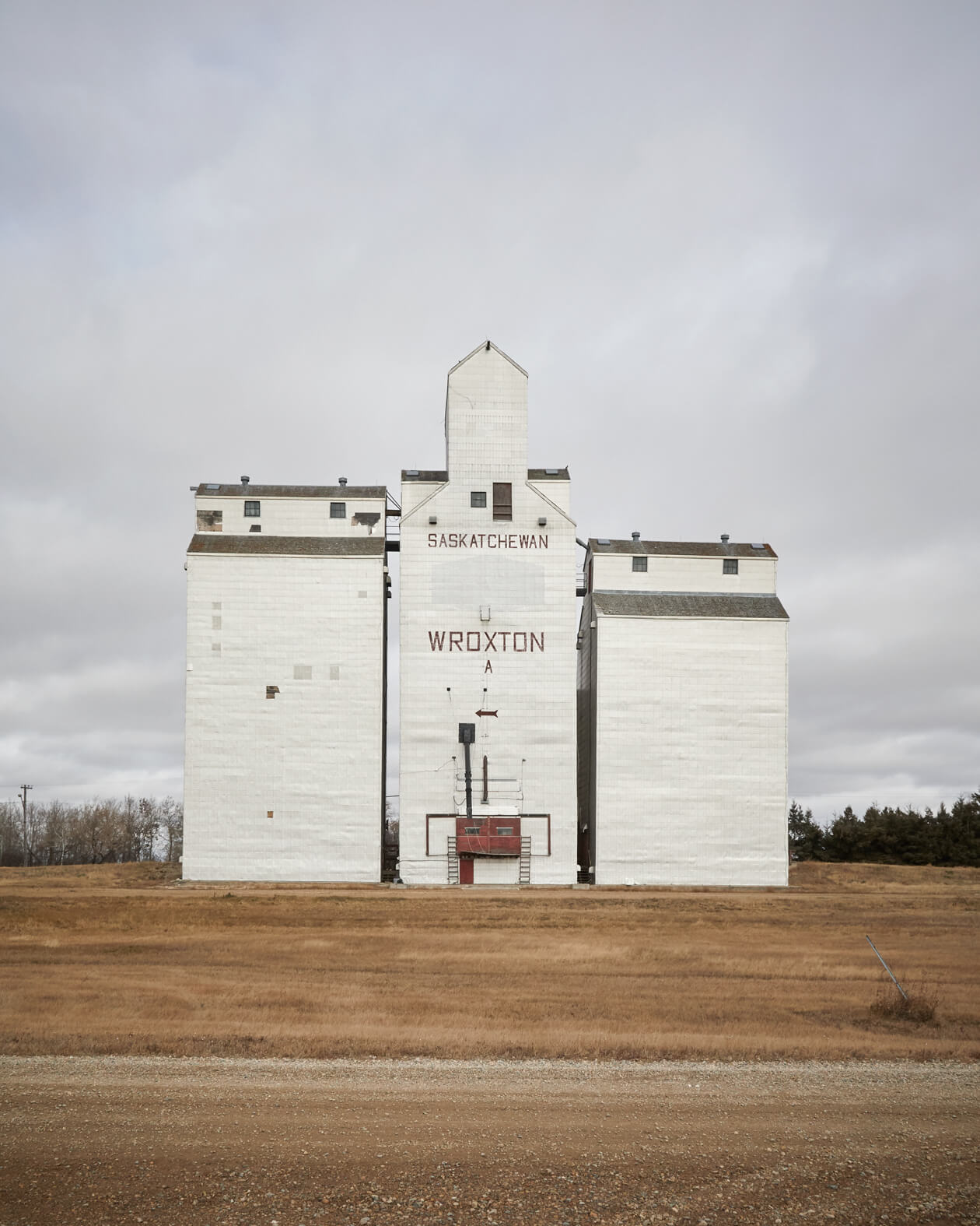 A grain elevator in Wroxton, Saskatchewan