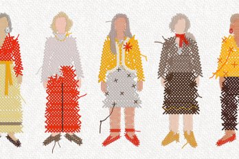 Embroided Pattern of Several Old Women