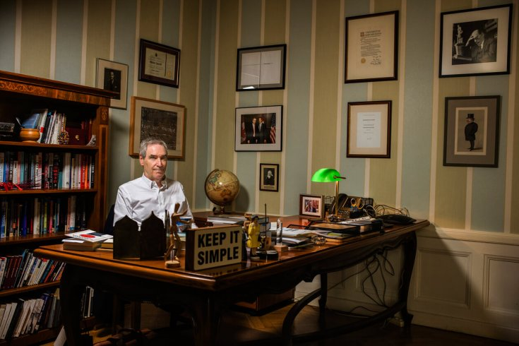 Michael Ignatieff sitting in office