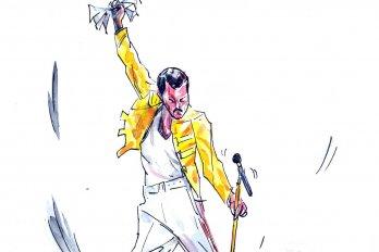 Illustration of Freddie Mecury