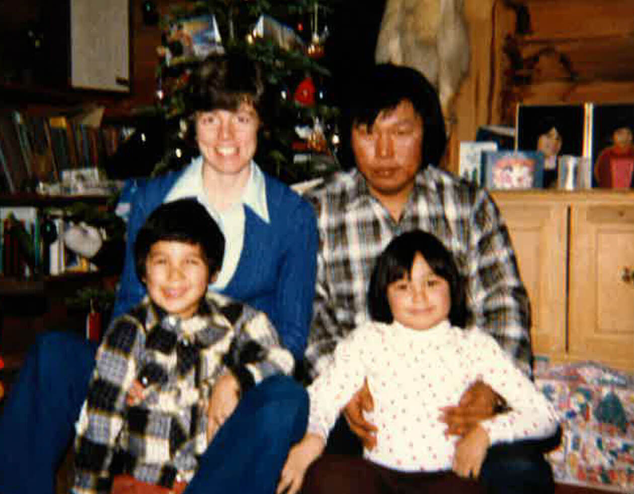 Obed's family in Nain in 1980