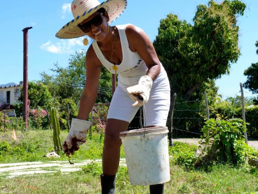 A Woman Farming in Cuba