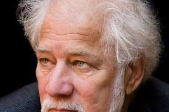 Michael Ondaatje looking into the distance