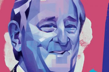 Illustration of Brian Mulroney