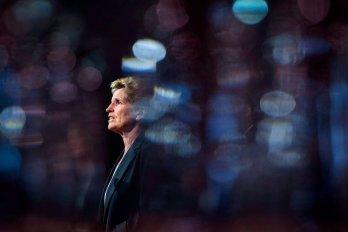Kathleen Wynne stands