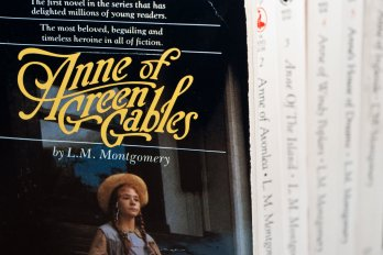 Photo of a cover of Anne of Green Gables (paperback).