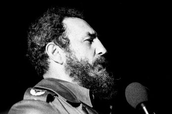 Photograph of Fidel Castro by Marcelo Montecito