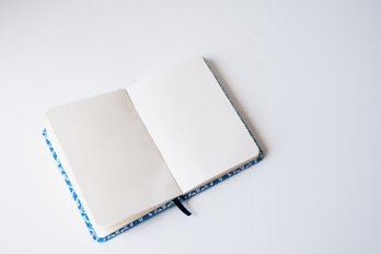 Empty moleskine notebook