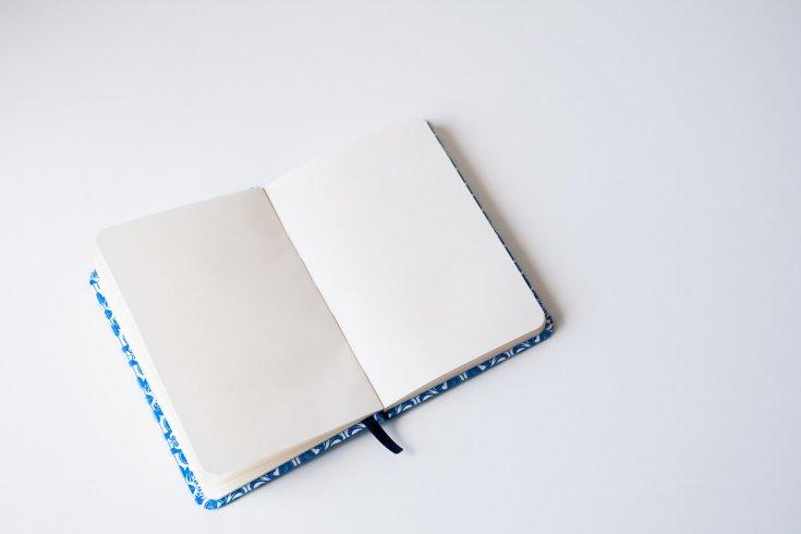 Empty moleskine notebook