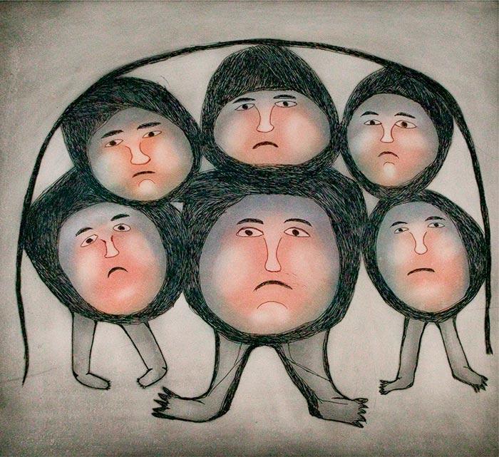 Painting by Ohotaq Mikkigak