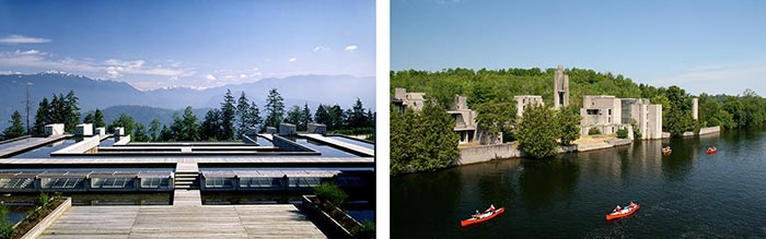 Photos: left courtesy of Simon Scott; right courtesy of Trent University