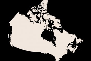 cropped outline of Canada
