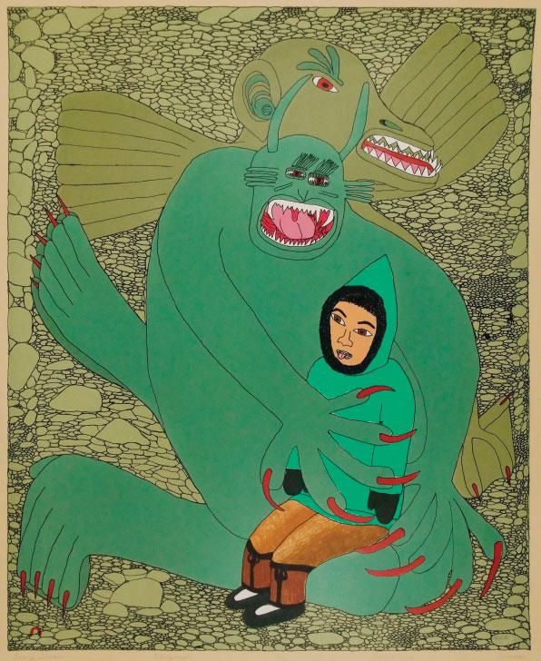 Painting by Suvinai Ashoona