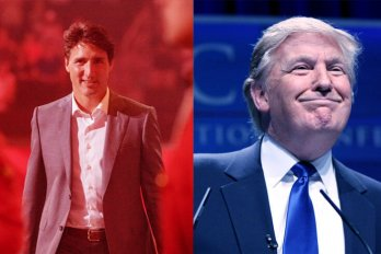 Justin Trudeau and Donald Trump.