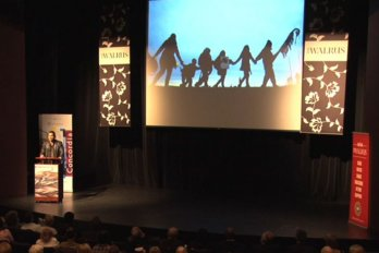 Video still from The Walrus Talks Human Rights