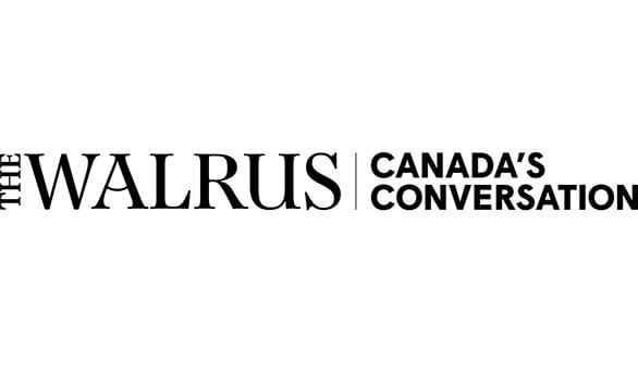 The Walrus logo in black on a white background along with the tagline Canada's Conversation.