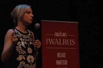 Video still from The Walrus Talks Philanthropy