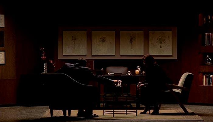 scene from the sopranos in psychiatrist office