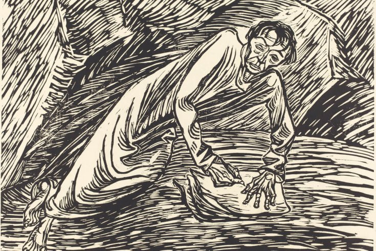 The Writing Prophet (St. John on Patmos) by Ernst Barlach